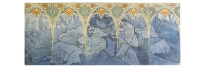 Fragments de frise du Pavillon de la Bosnie -Herzégovine à l'Exposition Universelle de 1900 à Giclee Print by Alphonse Mucha