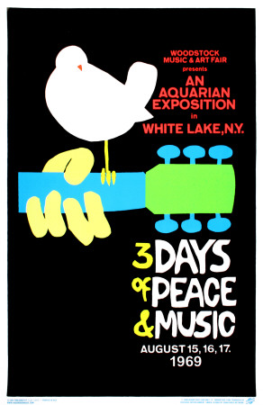 Woodstock Blacklight Poster