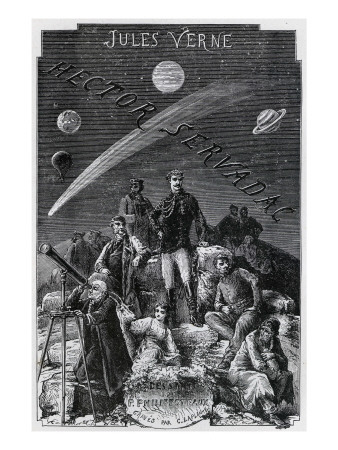 "Jules Verne, ""Hector Servadac"", Frontispiece Giclee Print by Jules Verne"