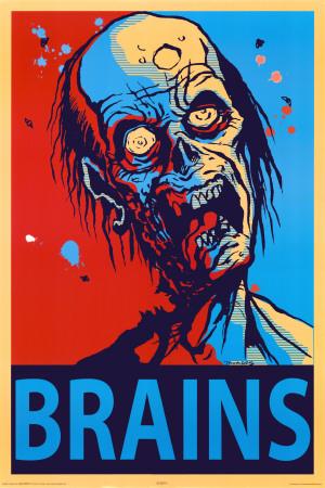 Zombie Brains Plakát
