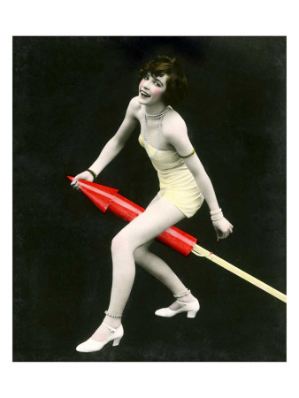 Fourth of July Rocket Girl, c.1925 Giclee Print