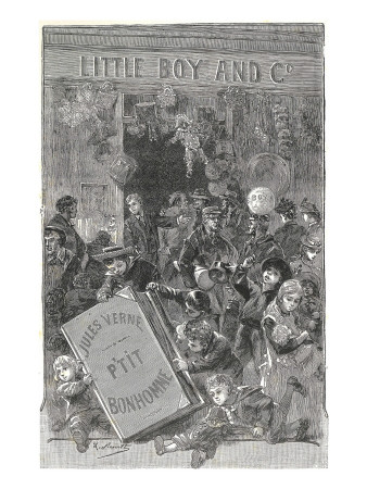 "Jules Verne, Frontispiece of ""Foundling Mick"" Giclee Print by Jules Verne"
