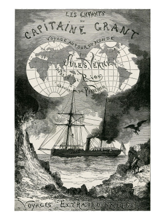 "Jules Verne, ""The Children of Captain Grant"" Giclee Print by Jules Verne"
