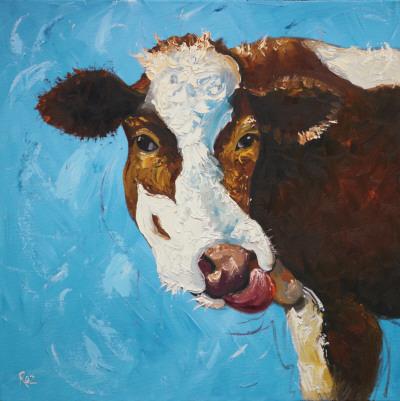Cow, no. 303 Prints by  Roz