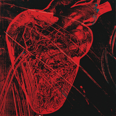 Human Heart, c.1979 (red with veins) Kunstdruck