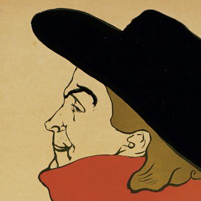 Aristide Bruant (detail) Póster por Henri de Toulouse-Lautrec