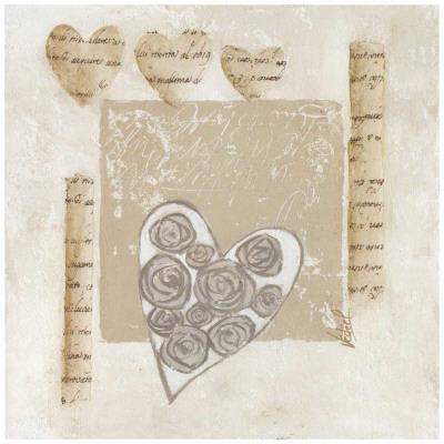 Coeurs et Roses Prints by Véronique Didier-Laurent