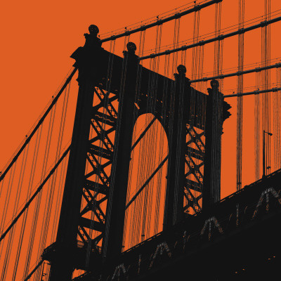 Orange Manhattan Art Print