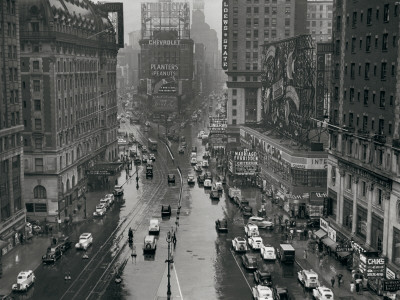 Times Square, New York City, c.1935 Konsttryck