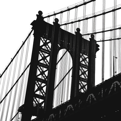 Manhattan Bridge Silhouette (detail) Reproduction d'art
