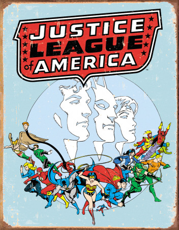 Justice League Retro Tin Sign