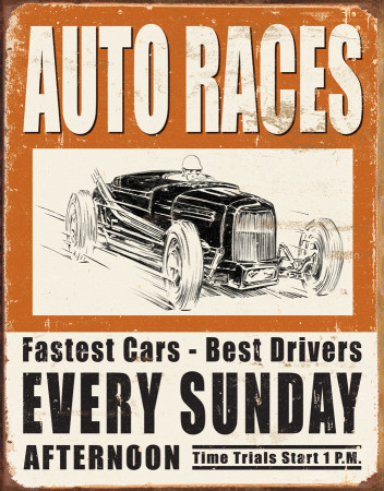 Auto Racing Vintage on Vintage Auto Races Blechschild   Bei Allposters Ch