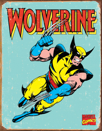Wolverine Retro Tin Sign