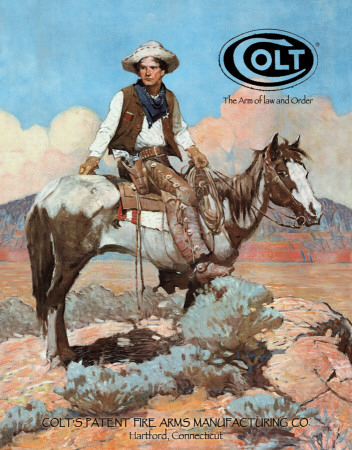 COLT - Tex and Patches Tin Sign
