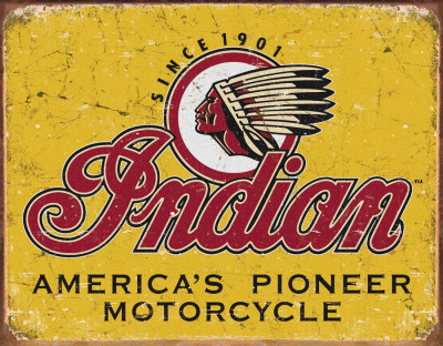 Indian Motorcycles Since 1901 Plåtskylt
