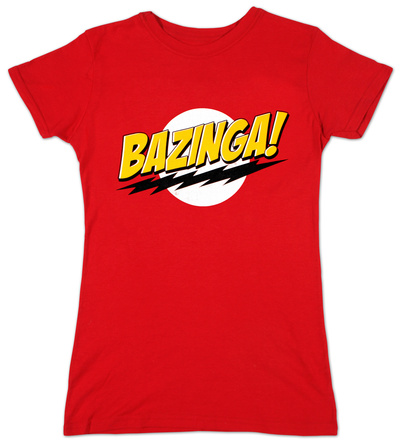 Juniors: The Big Bang Theory - Bazinga T-Shirt