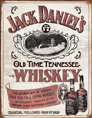 Jack Daniels - Old Time Tennessee Whiskey Blechschild
