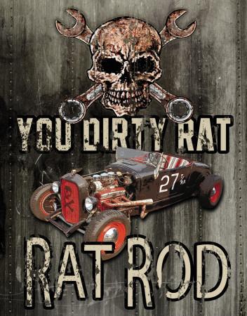 Legends - Dirty Rat Tin Sign