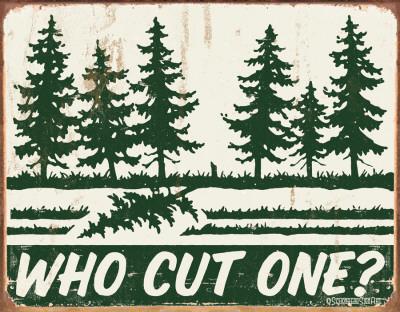 Schonberg - Cut One Tin Sign