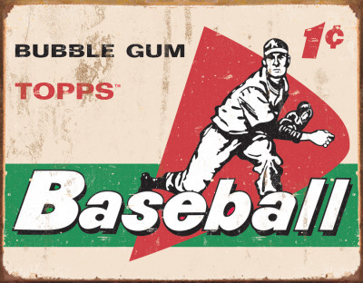 TOPPS - 1958 Baseball Cards Plaque en mtal