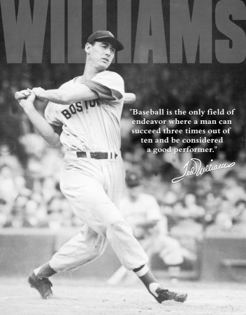 Ted Williams - Baseball Tin Sign