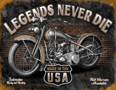 Legends - Never Die Plechová cedule