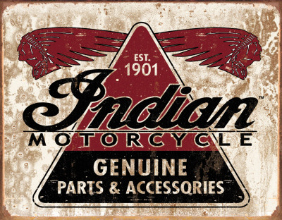 Indian - Genuine Parts Cartel de chapa
