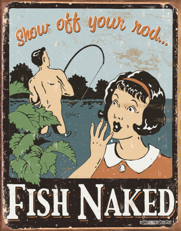 Schonberg - Fish Naked Tin Sign