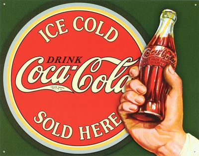 COKE - Ice Cold Bullseye Tin Sign