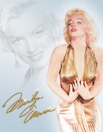Monroe - Gold Dress Cartel de chapa