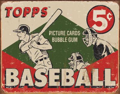 TOPPS - 1955 Baseball Box Blikskilt