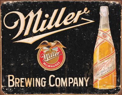 Miller Brewing Vintage Tin Sign