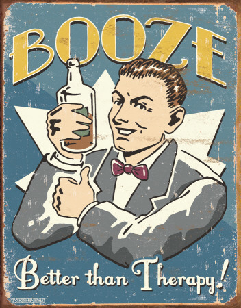 Schonberg - Booze Therapy Tin Sign