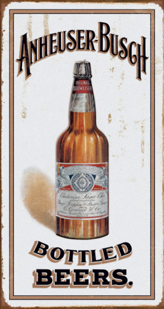 Anheuser Busch - Bottled Beers Tin Sign