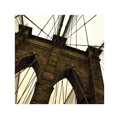 Brooklyn Bridge II (sepia) (detail) Giclee Print