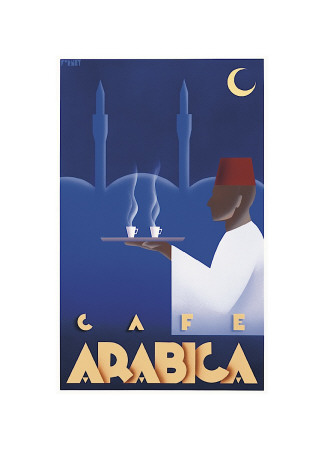 Caf Arabica Giclee Print