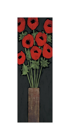 Red Hot Poppies Giclee Print by R. Rafferty