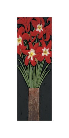 Red Hot Lilies Giclee Print by R. Rafferty