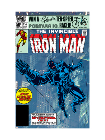 The Invinvible Iron Man #152 Cover: Iron Man Reproduction d'art