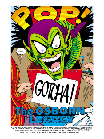 The Spectacular Spider-Man #189 Headshot: Green Goblin Lmina