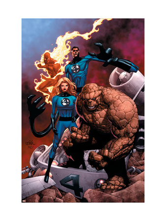 Fantastic Four superhero comic book poster