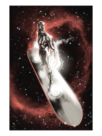 Silver Surfer: In They Name #2 Cover: Silver Surfer Reproduction d'art