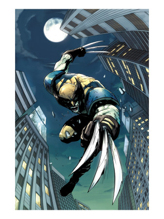 X-Men Unlimited #5 Cover: Wolverine Fighting Art Print