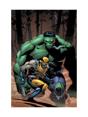 Incredible Hulk #80 Cover: Wolverine and Hulk Art Print