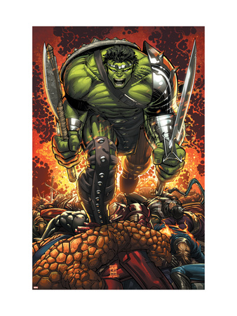 World War Hulk Prologue: World Breaker Cover: Hulk Art Print