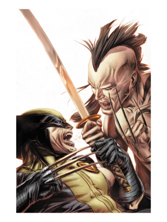 Wolverine Origins #35 Cover: Wolverine and Daken Lámina