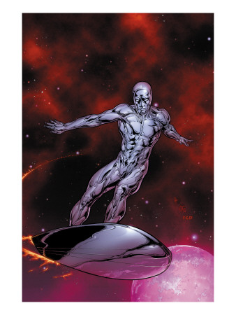 Silver Surfer #7 Cover: Silver Surfer Art Print