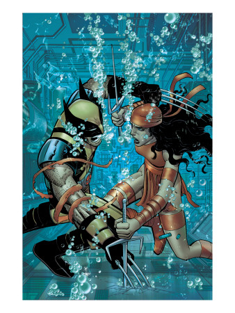 Wolverine #21 Cover: Wolverine and Elektra Art Print