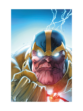 Lockjaw and The Pet Avengers #4 Headshot: Thanos Art Print