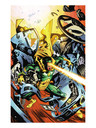 Marvel Adventures Super Heroes No.20 Cover: Vision Reproduction d'art